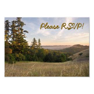RSVP with Sunset in Santa Cruz Mtns, California 3.5x5 Paper Invitation Card