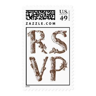 RSVP (Woodsy) Postage Stamp