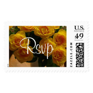 Rsvp Yellow Roses Postage - Customzable Postage Stamp