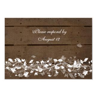 """Rsvps de madera de los tablones con los sobres invitación 3.5"""" x 5"""""""