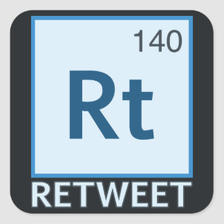 RT 140 / Retweet Element Square Sticker