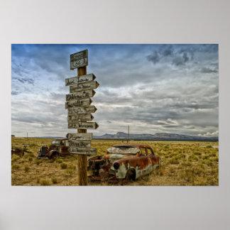 RT 66 Arizona Desert Poster