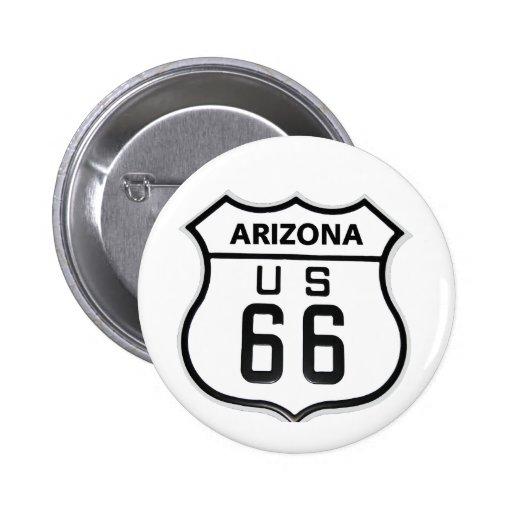 RT 66 Arizona Pinback Button