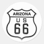 RT 66 Arizona Round Stickers