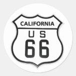 RT 66 California Round Sticker