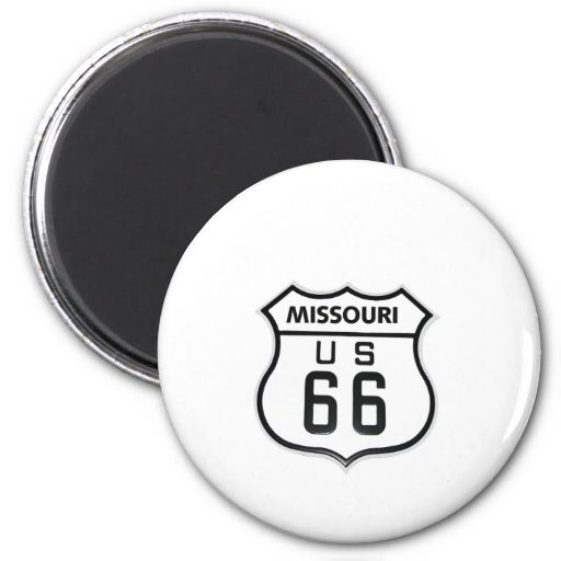 RT 66 Missouri Refrigerator Magnet
