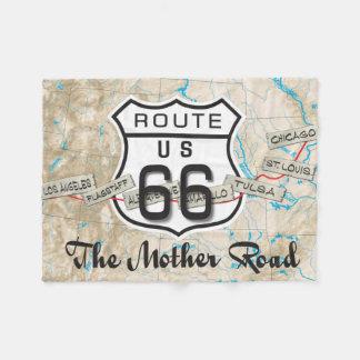Rt 66 mother road blanket