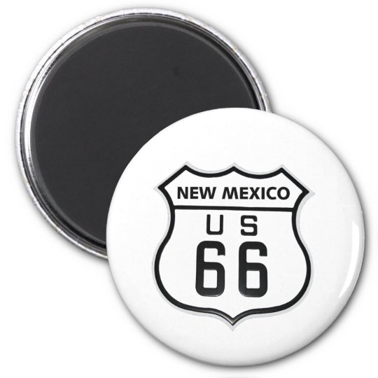 RT 66 New Mexico 2 Inch Round Magnet
