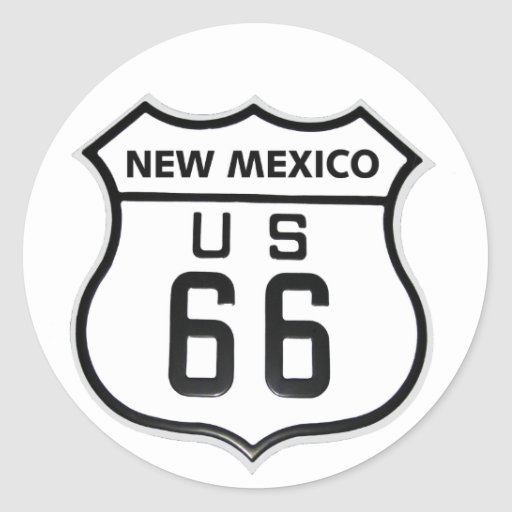 RT 66 New Mexico Stickers