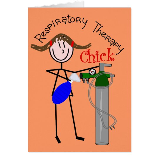 RT Chick O2 Tank and Ambu Bag Stick People Card