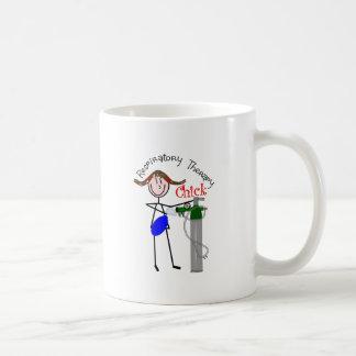 RT Chick O2 Tank and Ambu Bag Stick People Coffee Mug