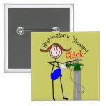 RT Chick O2 Tank and Ambu Bag Stick People Pinback Button