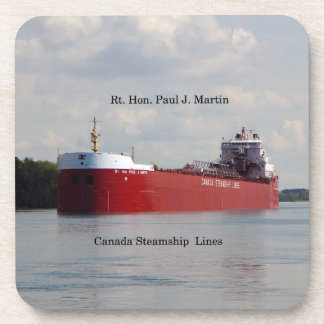 Rt. Hon Paul J. Martin set of 6 plastic coasters