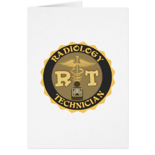 RT RADIOLOGY TECHNICIAN BADGE - LOGO GREETING CARD