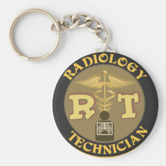 RT RADIOLOGY TECHNICIAN BADGE - LOGO KEYCHAIN