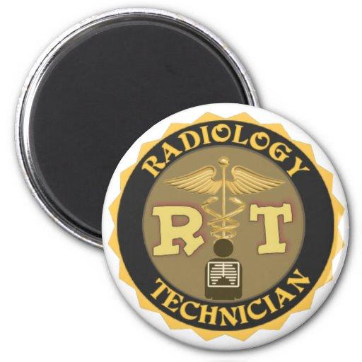 RT RADIOLOGY TECHNICIAN BADGE - LOGO REFRIGERATOR MAGNET
