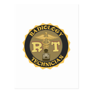RT RADIOLOGY TECHNICIAN BADGE - LOGO POSTCARD