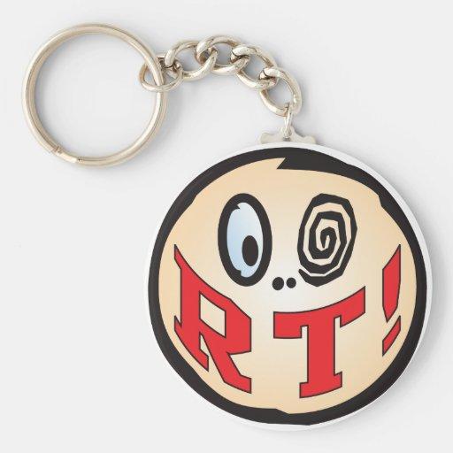 RT Text Head Key Chain