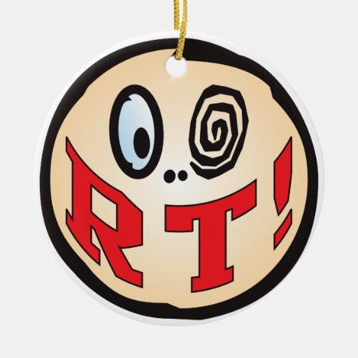 RT Text Head Christmas Ornaments