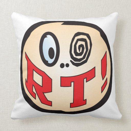 RT Text Head Throw Pillows