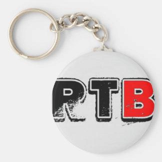 RTB Bold Logo RealTalkwithBrandon Basic Round Button Keychain