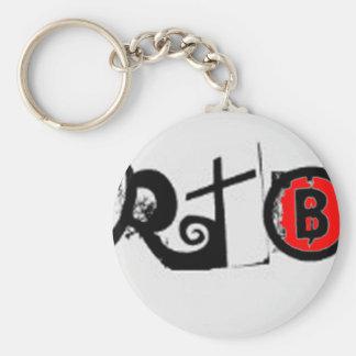 RTB  Real Talk with Brandon LOGO Basic Round Button Keychain