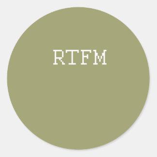 RTFM2 ETIQUETA REDONDA