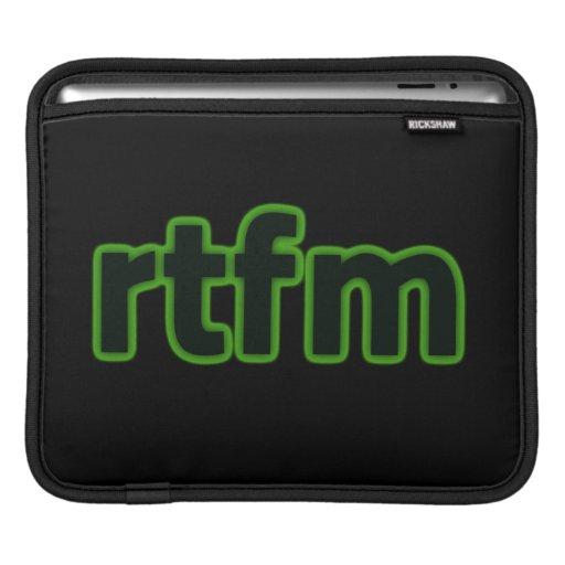 rtfm iPad sleeve