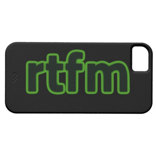 rtfm iPhone 5 Case