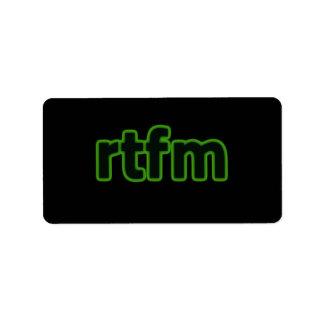 rtfm Label