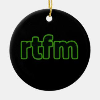 rtfm christmas ornament