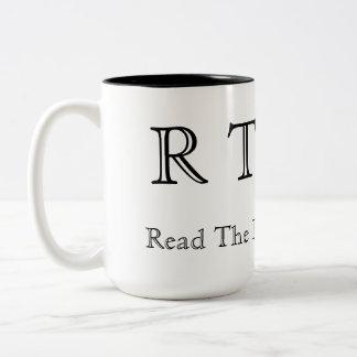 RTFM - Read The Factory Manual Two-Tone Coffee Mug
