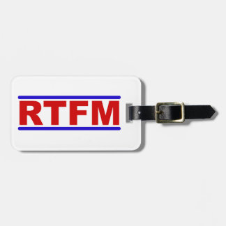 RTFM - Read the Fraging Manual Bag Tag