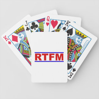 RTFM - Read the Fraging Manual Bicycle Playing Cards