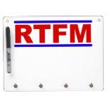 RTFM - Read the Fraging Manual Dry-Erase Whiteboard
