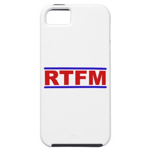 RTFM - Read the Fraging Manual iPhone 5 Covers