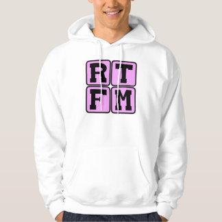 RTFM Read The #$%%^ Manual Internet Slang Acronym Hoodie