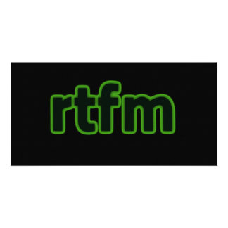 RTFM TARJETA FOTOGRÁFICA PERSONALIZADA