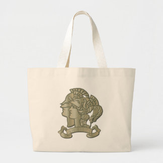 rtist Rifle Badge without Text Large Tote Bag