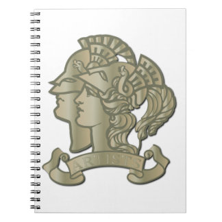 rtist Rifle Badge without Text Notebook