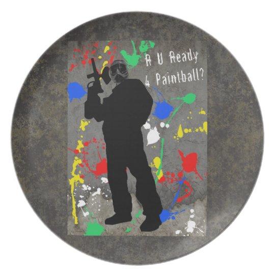 RU Ready 4 Paintball Melamine Plate