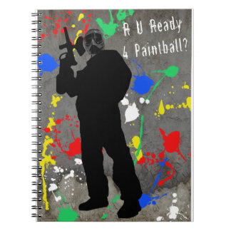 RU Ready 4 Paintball Spiral Notebook