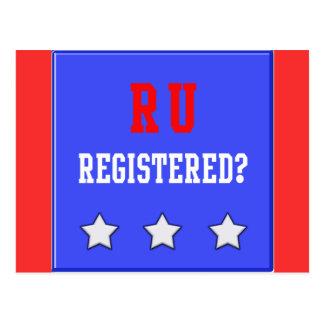 RU Registered Blue Postcard