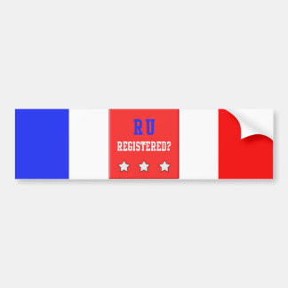 RU Registered Red Car Bumper Sticker