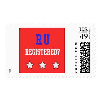RU Registered Red Postage Stamps