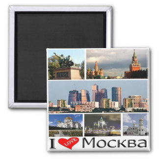 RU - Russia - MOSCOW - I LOVE - COLLAGE MOSAIC Magnet