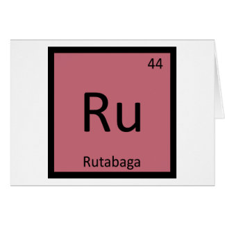 Ru - Rutabaga Vegetable Chemistry Periodic Table Card