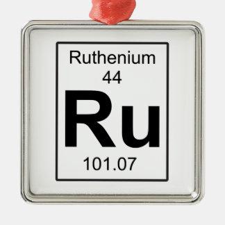 Ru - Ruthenium Metal Ornament