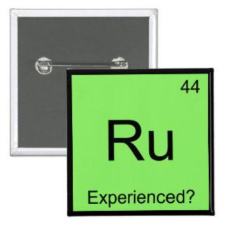 Ru - Símbolo divertido experimentado T del element Pin Cuadrado