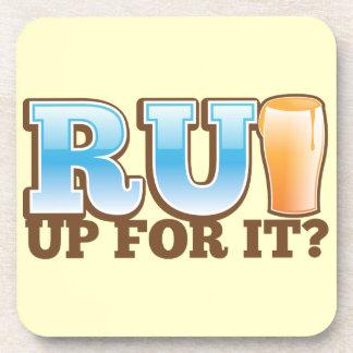 RU Up for it BEER Beverage Coasters